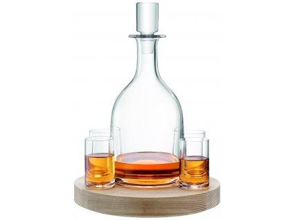 LSA Lotta set dekantér 0,95l +4 sklenice na jasanovém podnosu