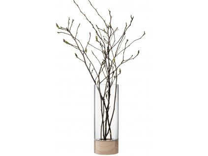 LSA Lotta váza/svícen jasan/čiré sklo, 62cm