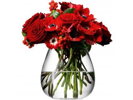 LSA Flower váza stolní, 17cm, čirá