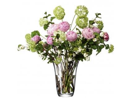 LSA Flower váza otevřená, 23cm, čirá