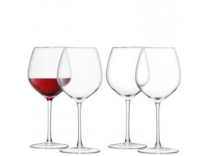 LSA Wine sklenice na červené víno, 400ml, set 4ks čiré