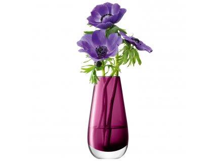 LSA Flower váza malá, 14cm, tmavě fialová