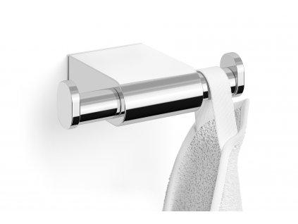 Dvojitý nerezový háček na ručníky lesklý ZACK