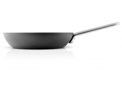 Hluboká pánev z nerezové oceli a hliníku černá 24 cm, Eva Trio