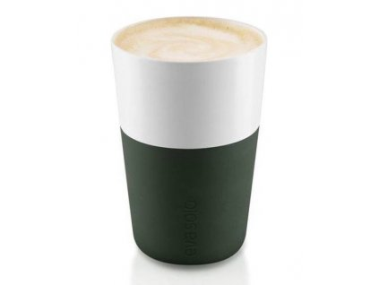80978 hrnky na cafe latte forest green 360ml set 2ks 501057 eva solo