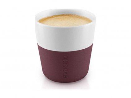 80981 hrnky na espresso 80ml burgundy set 2ks 501058 eva solo