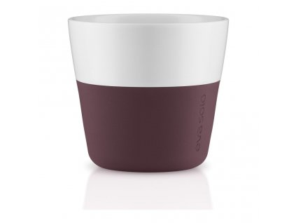 Termohrnky na kávu Lungo 2ks burgundy 230ml, Eva Solo