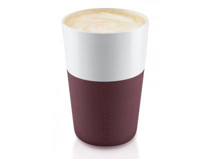Termohrnky na Café Latte 2ks burgundy 360ml, Eva Solo