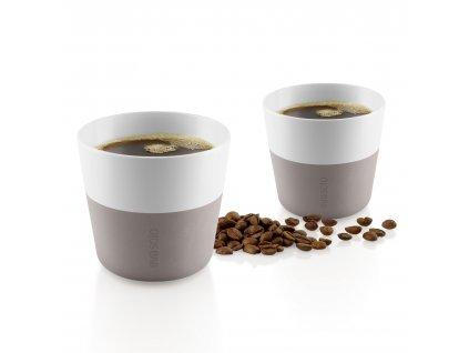 Termohrnky na kávu Lungo 2ks teplá šedá 230ml, Eva Solo