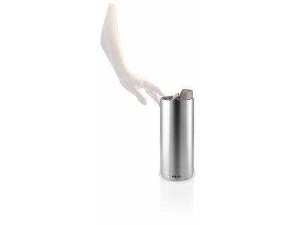 Nerezová termoska na kávu i čaj se teple šedým víkem 0,35l Eva Solo