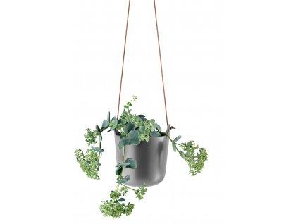 Samozavlažovací závěsný květináč Nordic matná šedá, Eva Solo