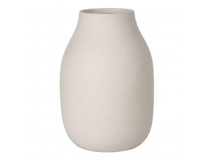 Váza COLORA krémová Ø 14 cm BLOMUS