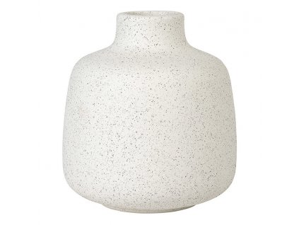 Váza RUDEA bílá Ø 12 cm BLOMUS