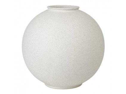 Váza RUDEA bílá Ø 30 cm BLOMUS
