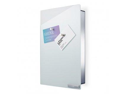 Skříňka na klíče s magnetickými dvířky VELIO bílá 30 x 20 cm BLOMUS