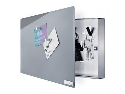 Skříňka na klíče s magnetickými dvířky VELIO šedá 20 x 30 cm BLOMUS