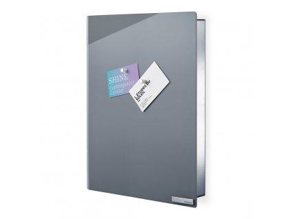 Skříňka na klíče s magnetickými dvířky VELIO šedá 40 x 30 cm BLOMUS