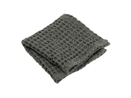 Ručník na ruce s vaflovým vzorem CARO khaki 30 x 30 cm BLOMUS