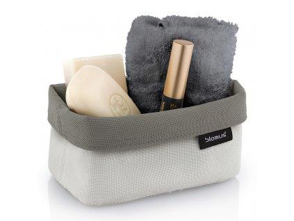 Oboustranný košík na kosmetické potřeby ARA střední pískový/šedohnědý BLOMUS