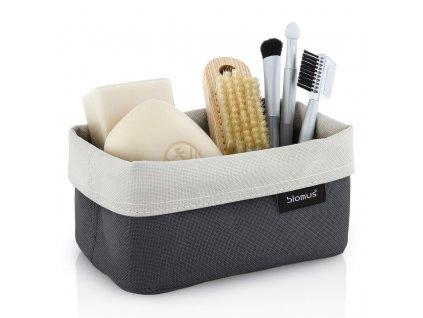 Oboustranný košík na kosmetické potřeby střední ARA pískový/antracitový BLOMUS