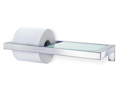 Držák na toaletní papír MENOTO leštěný nerez/sklo BLOMUS