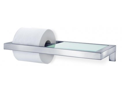 Držák na toaletní papír MENOTO matný nerez/sklo