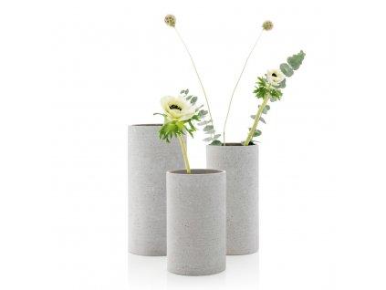 Váza Coluna velikost M světle šedá BLOMUS
