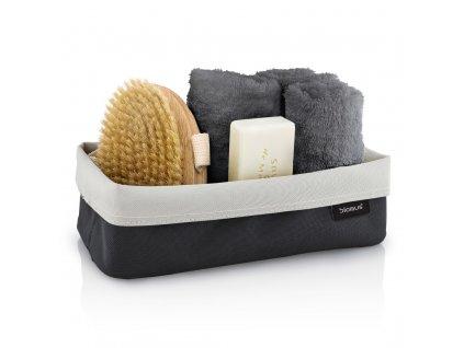 Oboustranný košík na kosmetické potřeby ARA velký pískový/antracitový BLOMUS
