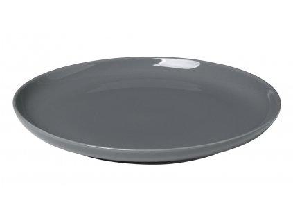 servírovací talíř porcelánový tmavě šedý RO BLOMUS