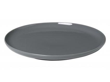 mělký talíř porcelánový tmavě šedý RO BLOMUS
