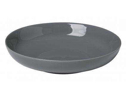 hluboký talíř porcelánový tmavě šedý RO BLOMUS