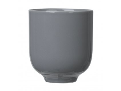 porcelánový hrníček tmavě šedý RO