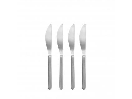 Set 4 nožů na máslo z nerezu matný STELLA BLOMUS