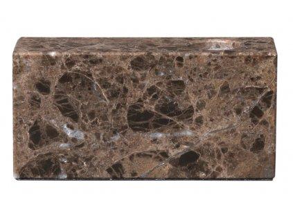 držák na svíčku mramorový  hnědý BLOC BLOMUS