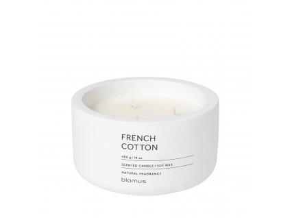 Vonná svíčka ze sojového vosku French Cotton velká FRAGA BLOMUS
