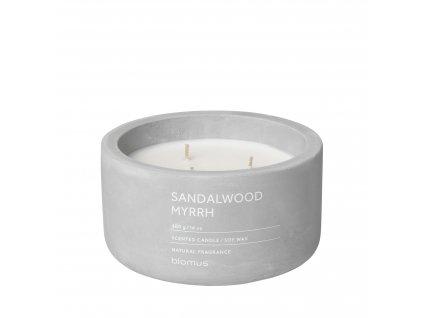 Vonná svíčka ze sojového vosku Sandalwood Myrrh velká FRAGA BLOMUS