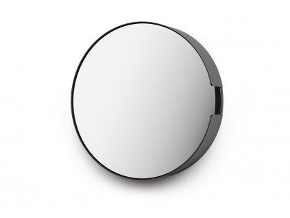 Skříňka na klíče se zrcadlem větší nerezová černá ZACK