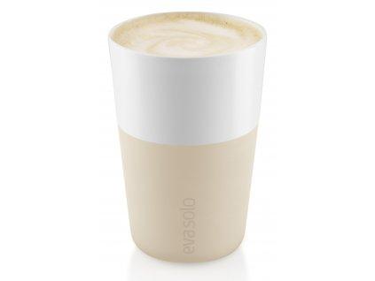 Termohrnky na café latte 360 ml 2 kusy béžové