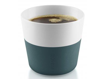 Termohrnky na kávu Lungo 230 ml 2 kusy petrolejové