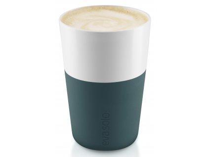 Termohrnky na café latte 360 ml 2 kusy petrolejové