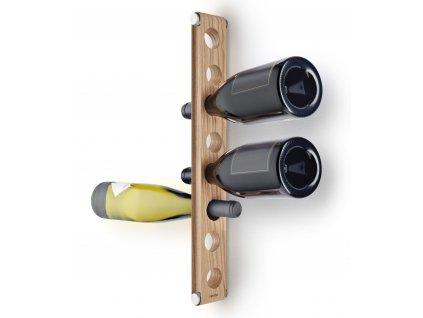 Závěsný regál na lahve z dubového dřeva Nordic Kitchen