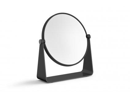 kosmetické zrcátko nerezové matné černé ZACK