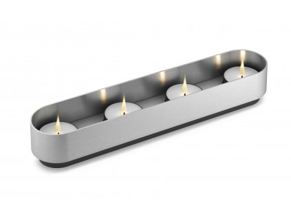 svícen na 4 čajové svíčky nerezový ZACK