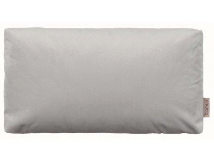 Sametový polštář 50 x 30 cm světle šedý BLOMUS