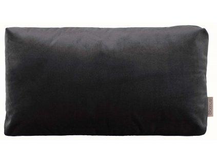 Sametový polštář 50 x 30 cm tmavě šedý BLOMUS