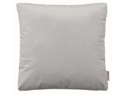Sametový polštář 45 x 45 cm světle šedý BLOMUS