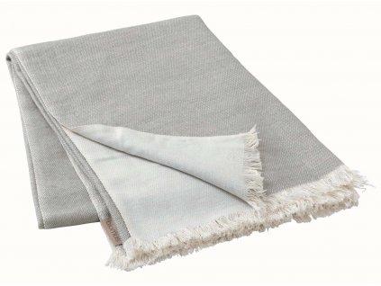 Pletený pléd šedohnědý BLOMUS