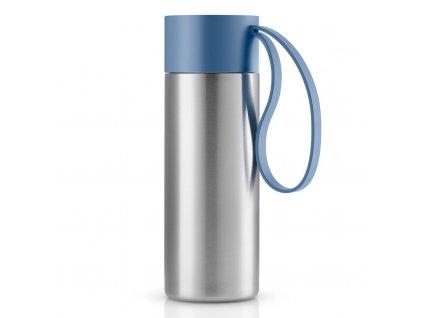 Nerezový termohrnek To Go 0,35 l s modrým uzávěrem, Eva Solo