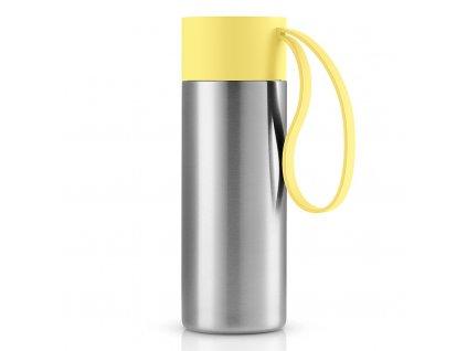 Nerezový termohrnek To Go 0,35 l s žlutým uzávěrem, Eva Solo