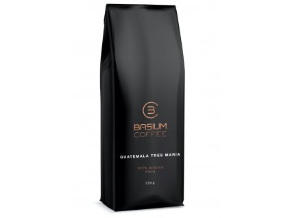 kava Guatemala tres maria mleta cerstve prazena